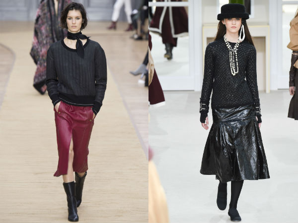 Leather skirts Fall 2017