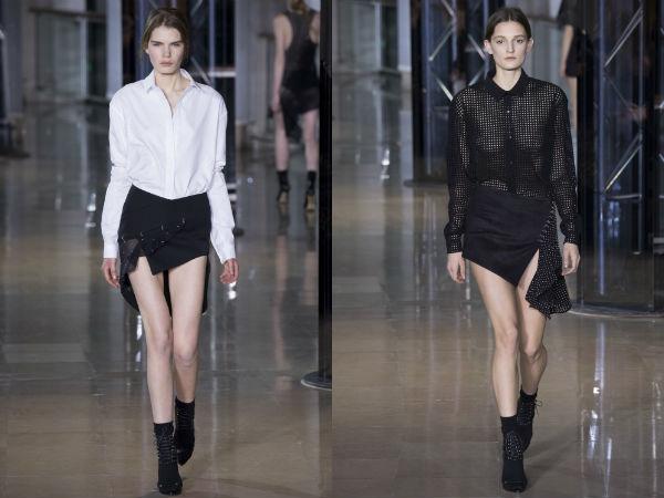 Asymmetric women's skirts Fall Winter 2017 2018