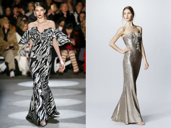 What evening dresses to wear in fall 2017