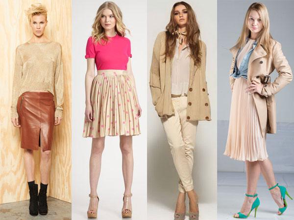 How blondes wear beige