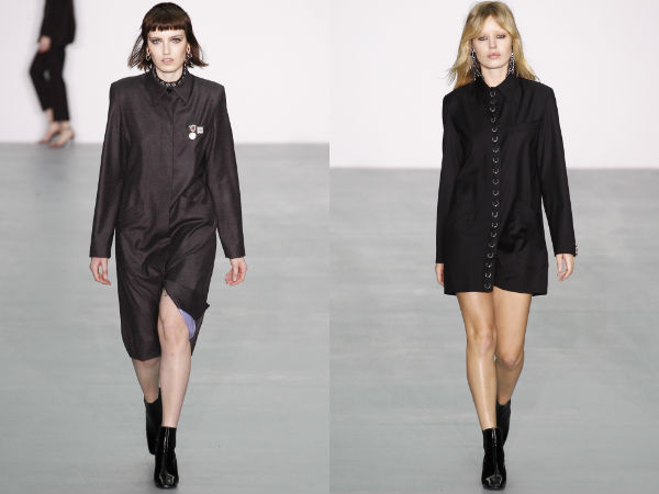 Fall-Winter 2017 2018 collared office dresses