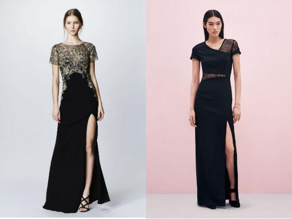 Black floor length evening dress