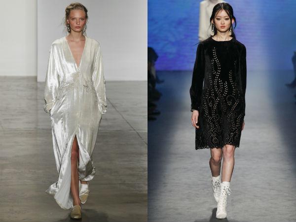 Casual dresses Fall Winter 2017 2018: Fabrics