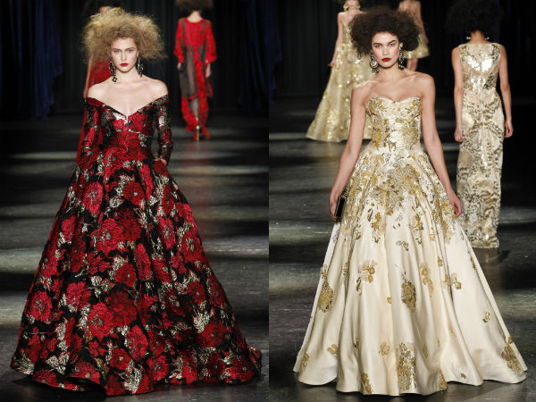 What are the evening dresses trends in winter 2017