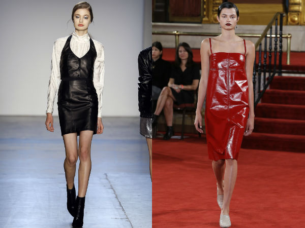 Casual dresses Fall 2017 Winter 2018: leather