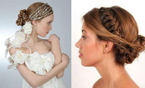 greek style with braids