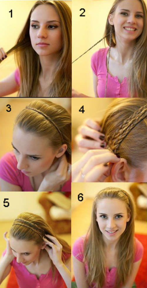 Easy hairstyles for medium length hair with braids