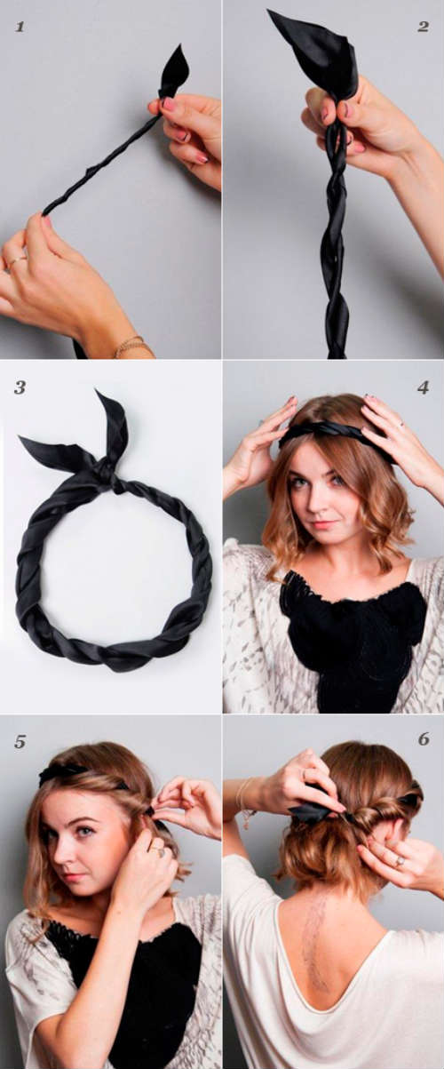Step by step Greek-style hairstyles