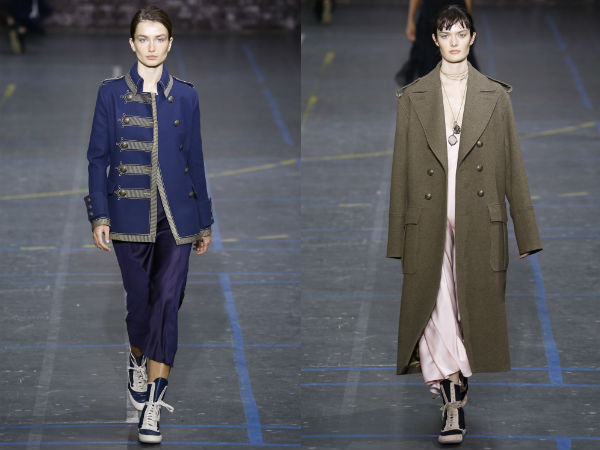 Fall Winter 2017 Military Style Coats