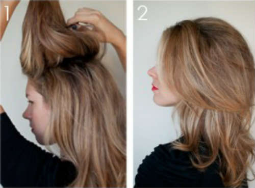 Retro hairstyle at home