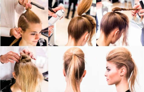 Simple ponytail hairstyle