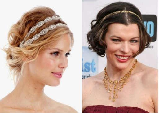 Festive Greek hairstyle