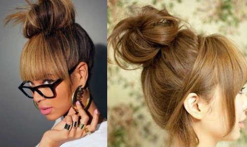 Easy long hair bun