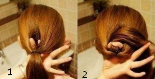 Fast hairbun for medium hair