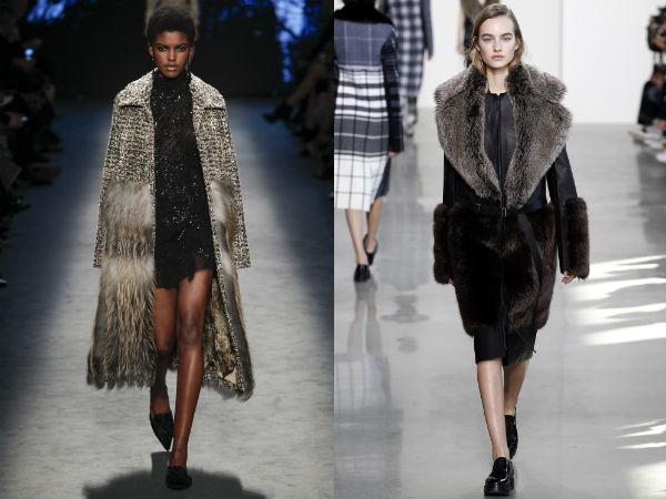 Fur decorated coat