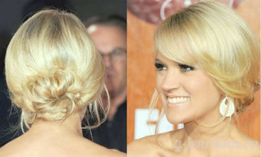 Easy and simple bun hairstyles for short hair