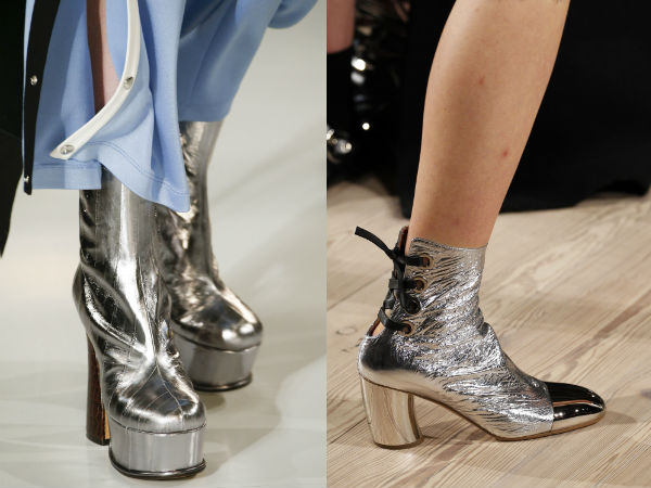 silver thick heel