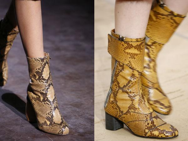 Reptile skin footwear