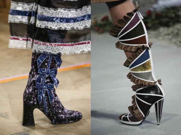 Leather décor boots