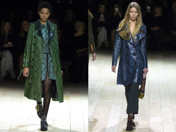 Fall Winter Trench coats 2017 2018: prints