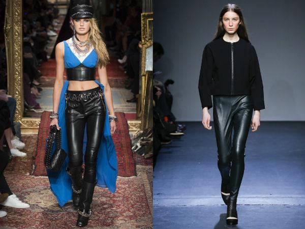 Women leather pants 2018