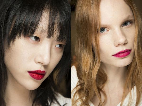 red lips modern makeup