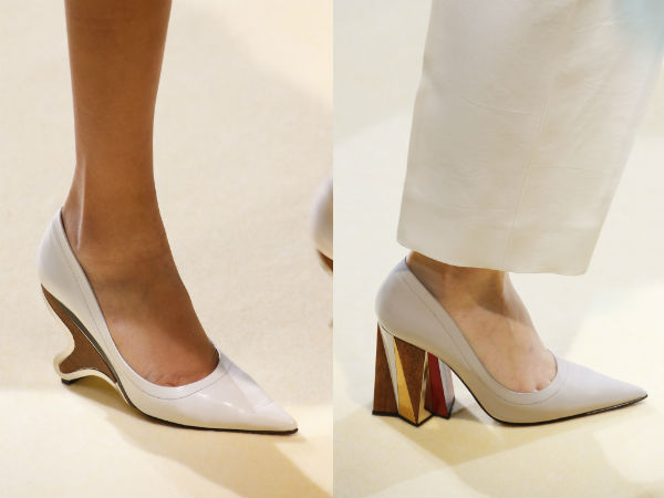 Festive medium heeled womens shoes