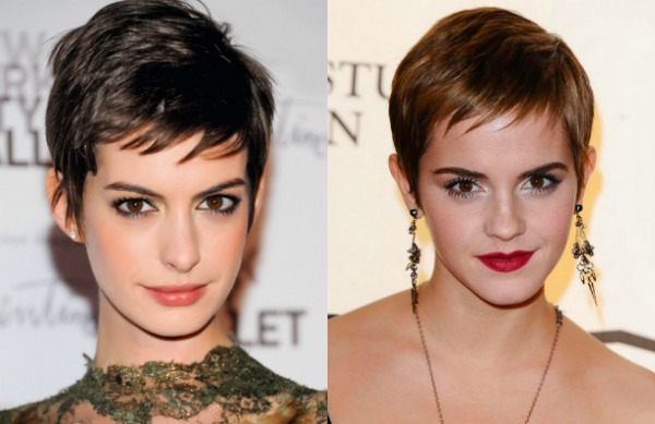 celebrities with short hair 2018