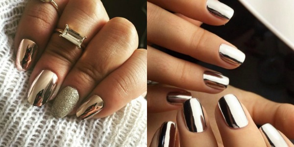 Nail ideas 2018 mirror effect