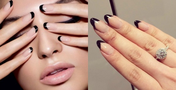 Black French nailpolish