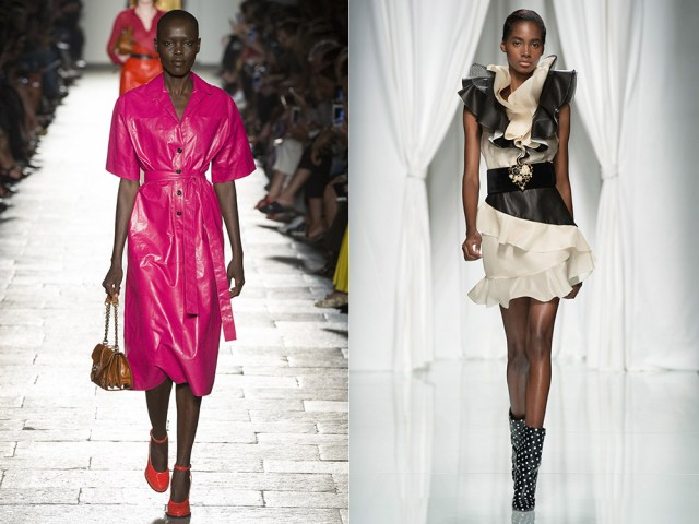 Fashion leather dress 2017