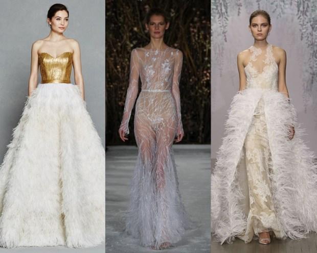 Feathered Wedding Dress 2018