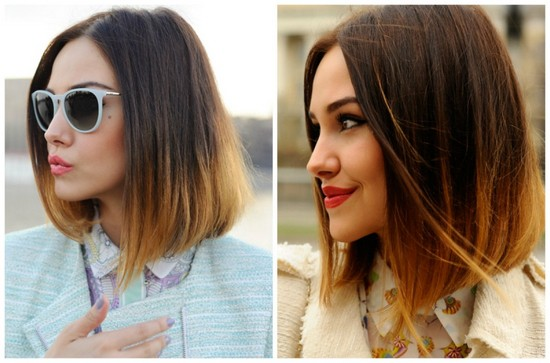 ombre medium hair length