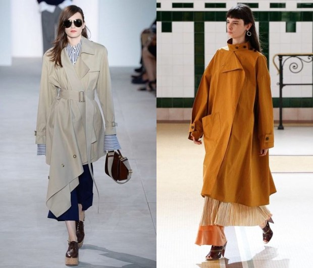 Asymmetric summer coats spring summer 2018