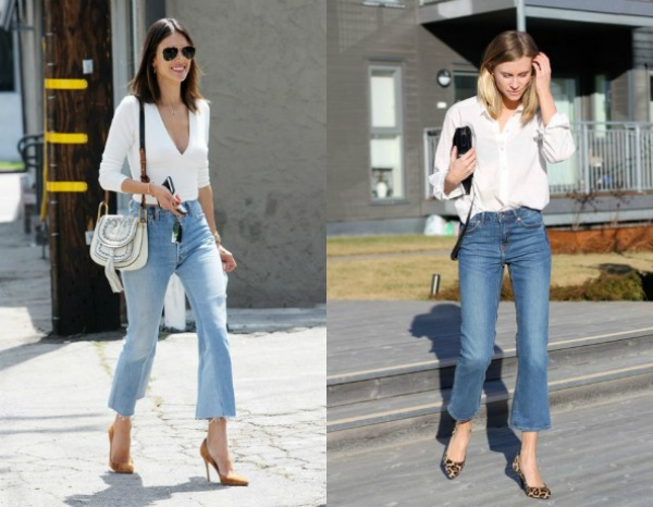 Celebrities in Capri jeans with high waist