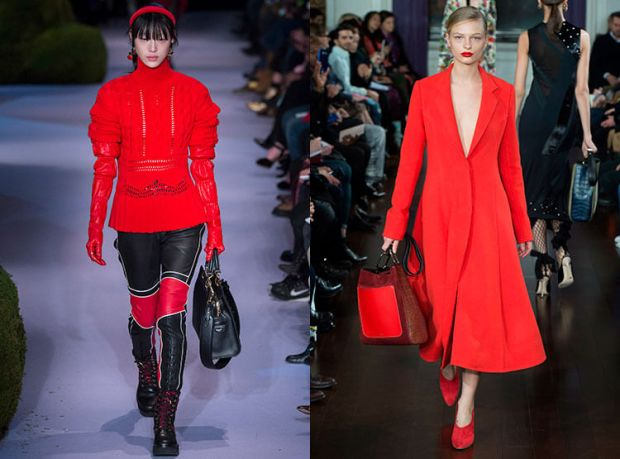 Fashionable red shades fall winter 2018 2019