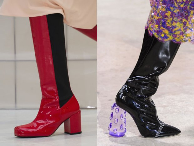 Fashion patent leather boots 2018 2019
