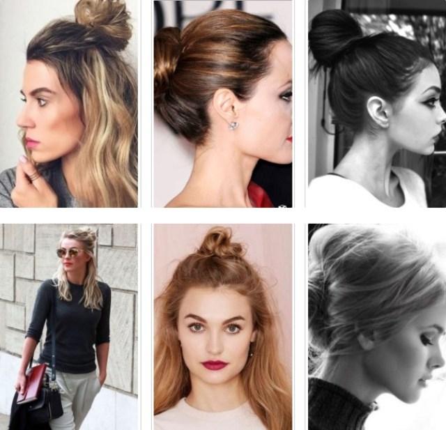 Bun for medium length hair 2017