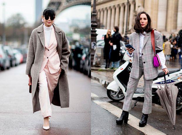 Street style fashion fall winter 2018 2019: women's suit