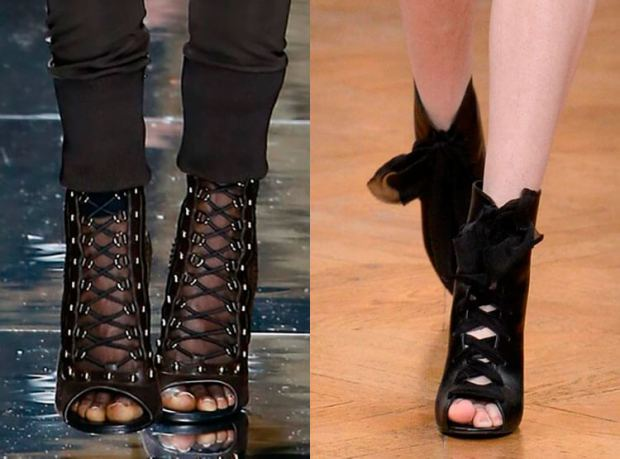 Booties with shoe laces fall winter 2018 2019