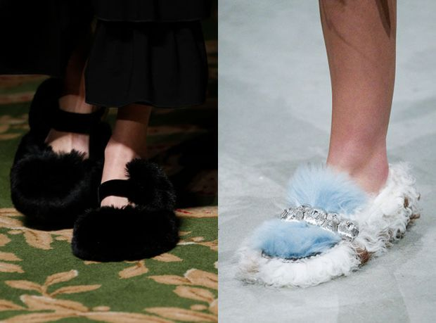 Women's shoes fall 2018 winter 2019: fur