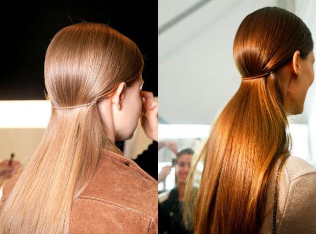 logn straight hair stil in style