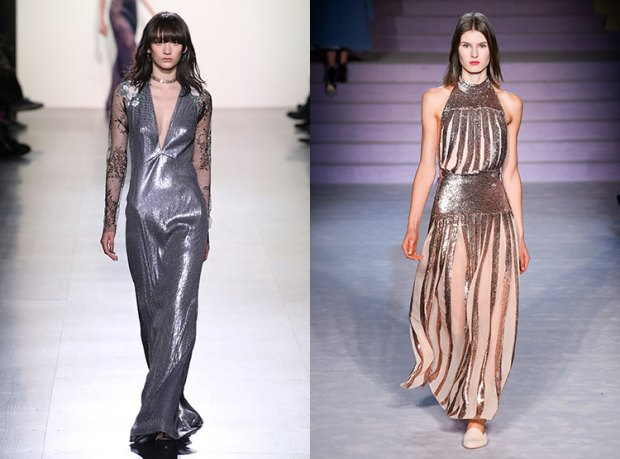 Dresses fall 2018 winter 2019: shiny