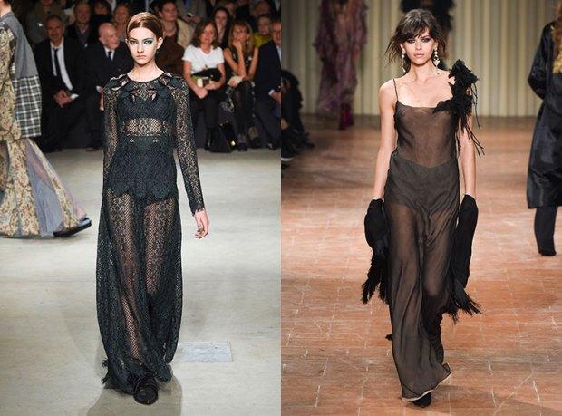 Fashion transparent black dress