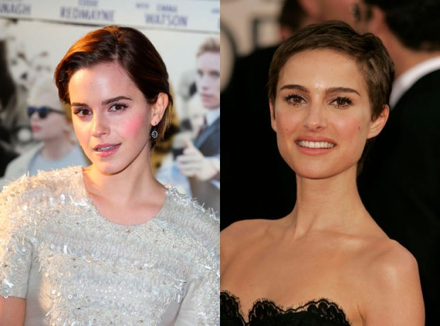 Celebrity with short hair