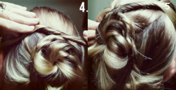 stylish medium hair bun
