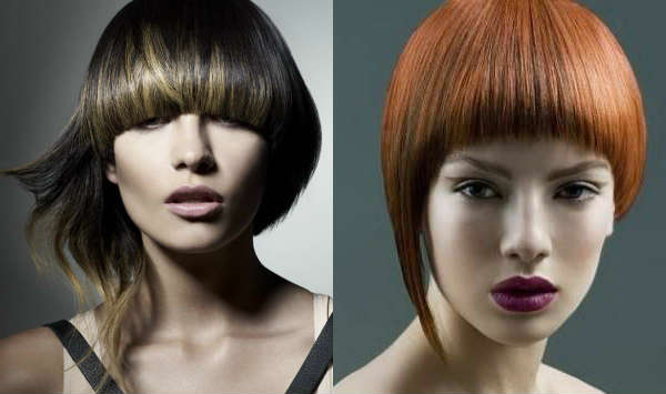 Asymmetric bob-carre haircuts
