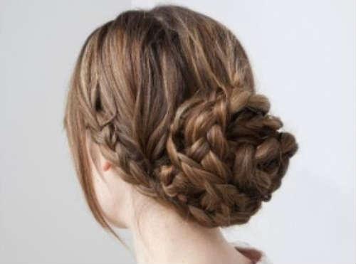 Long braided bun