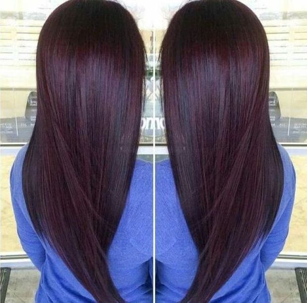 Dyed hair 2019 burgundy