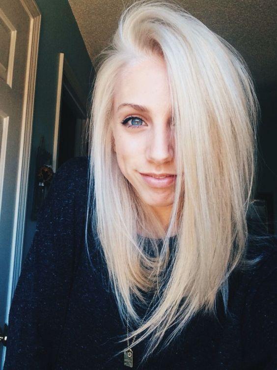 Lob haircut 2019 blonde